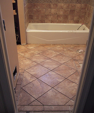Small Bathroom Floor Tile Size bathroom remodel quick tip: tile size & orientation | kelsey-colt