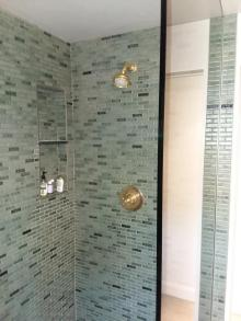 Glass Tile with Gold Finishes