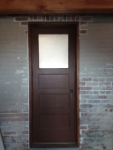 Exterior Door, Whitewashed Brick